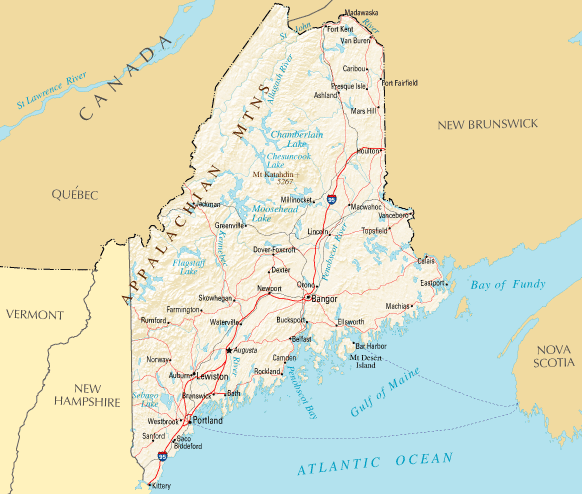 Snowmobile Trails in Maine - Map